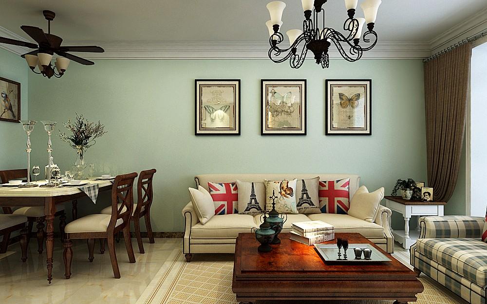 2020美式110平米裝修設計 2020美式二居室裝修設計