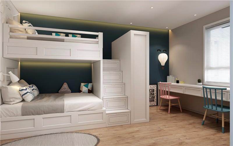 2020北欧儿童房装饰设计 2020北欧床效果图