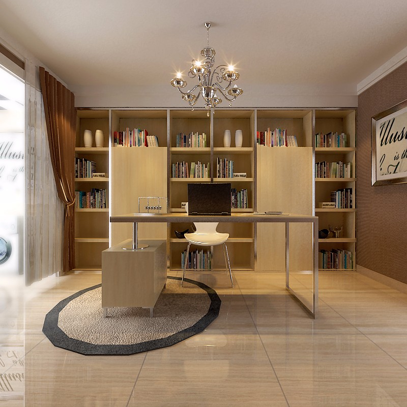 2020新古典书房装修设计 2020新古典细节装饰设计