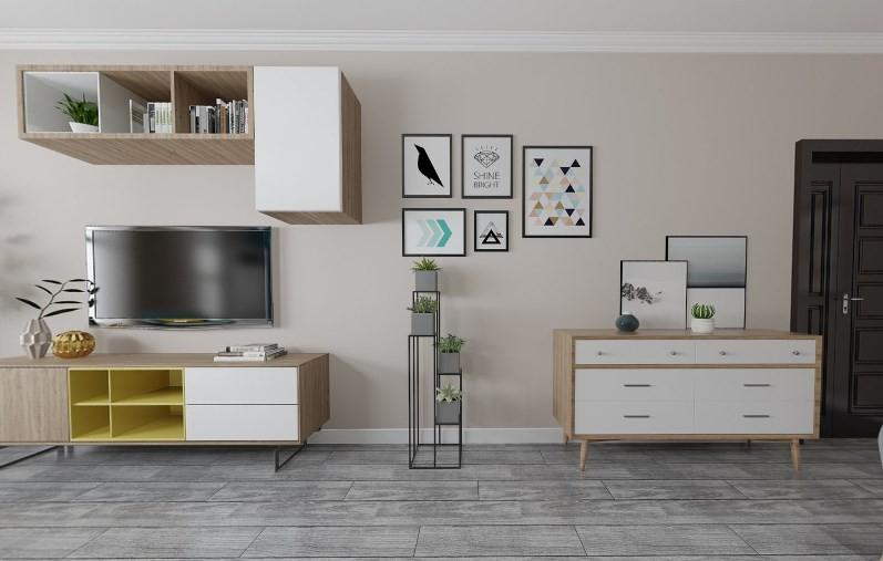 2020简欧客厅装修设计 2020简欧电视背景墙装修设计图片