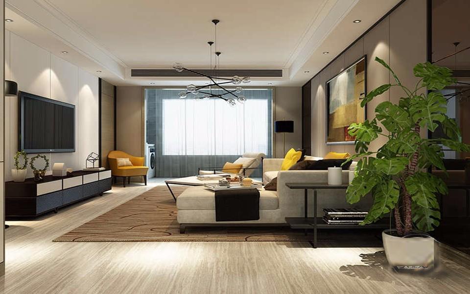 2020現代簡約客廳裝修設計 2020現代簡約窗臺設計圖片