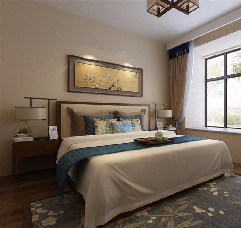 2020新中式卧室装修设计图片 2020新中式床图片