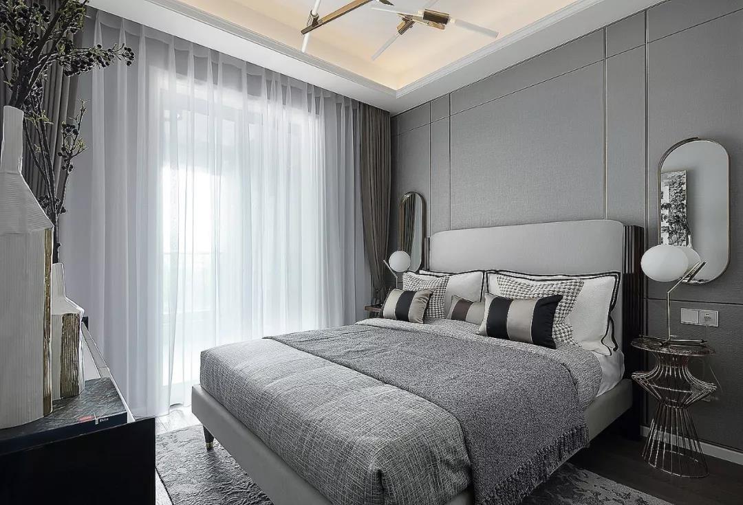 2020現代臥室裝修設計圖片 2020現代落地窗圖片