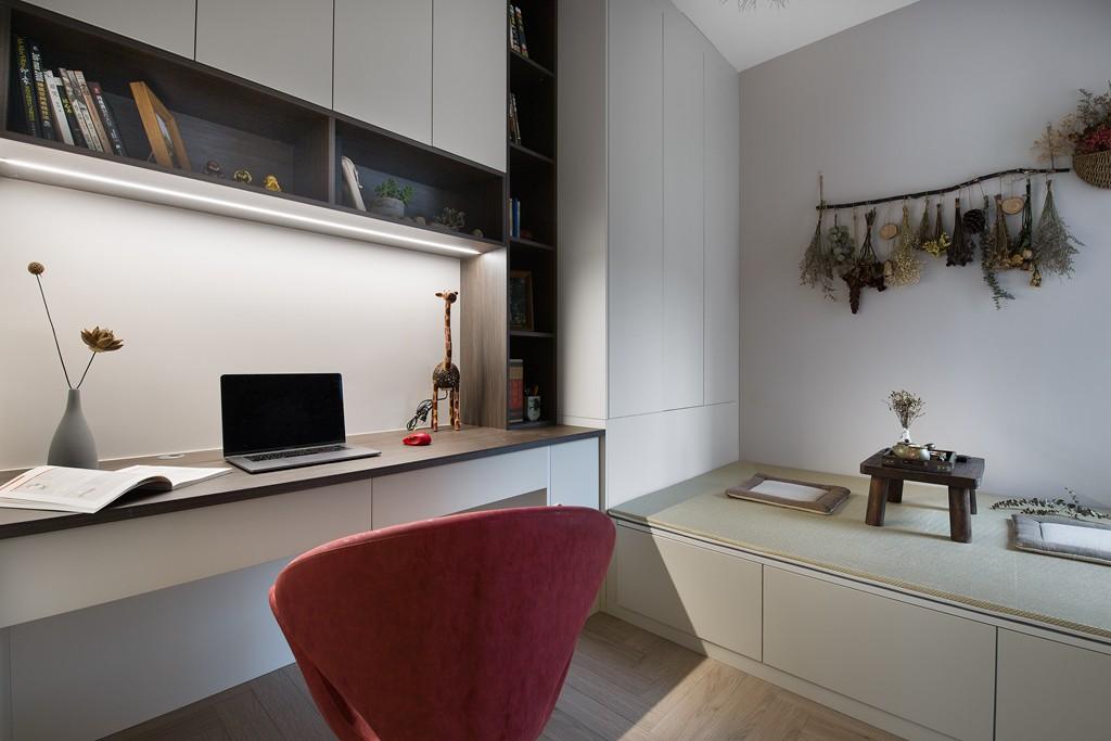 2020现代简约书房装修设计 2020现代简约背景墙装修效果图片