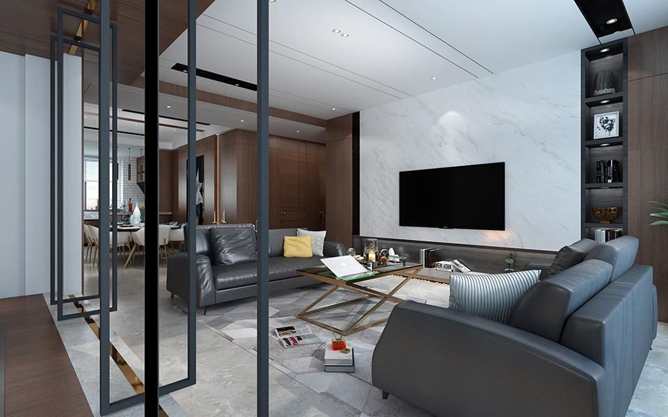 2020现代简约客厅装修设计 2020现代简约背景墙图片