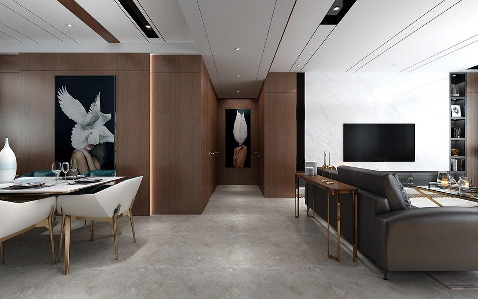 2020現代簡約客廳裝修設計 2020現代簡約過道圖片