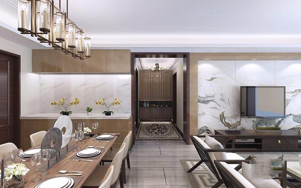 2020新中式客廳裝修設計 2020新中式過道圖片