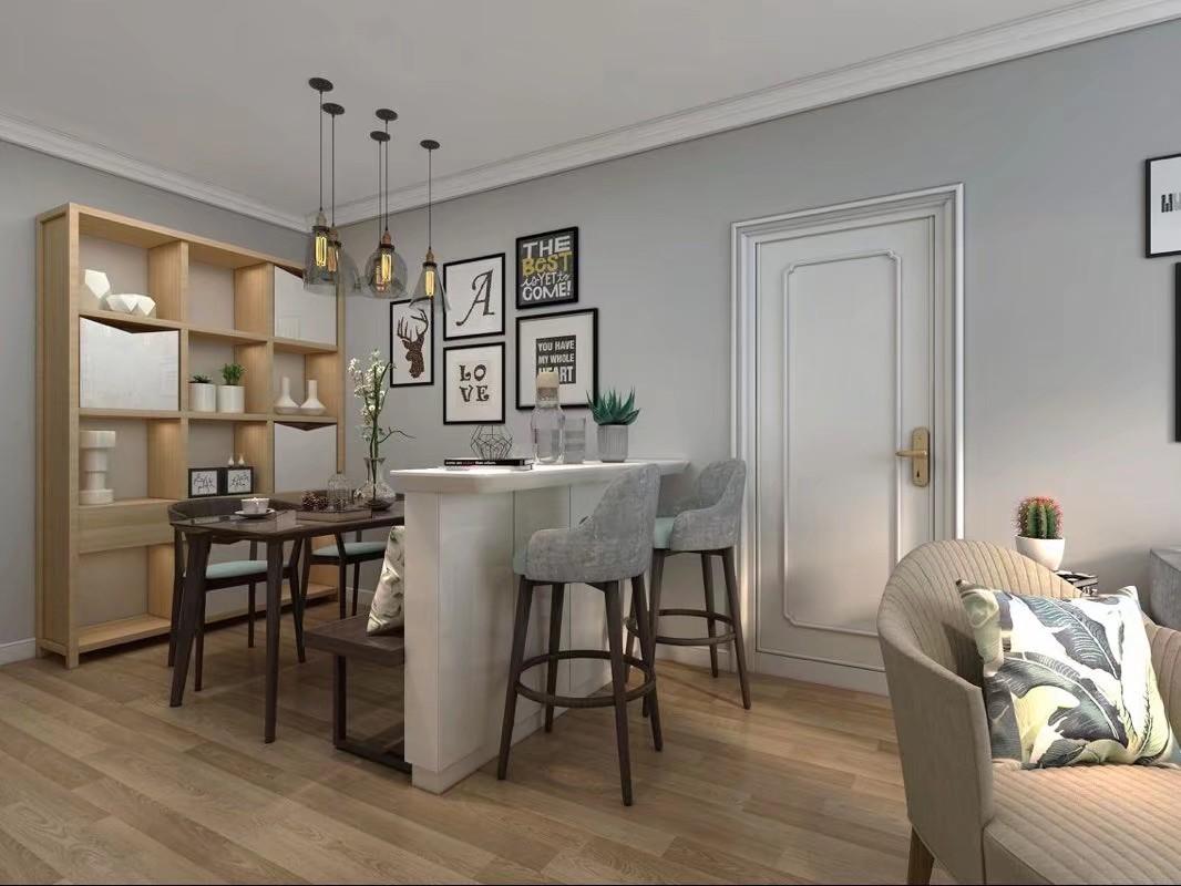 2020现代客厅装修设计 2020现代吧台效果图