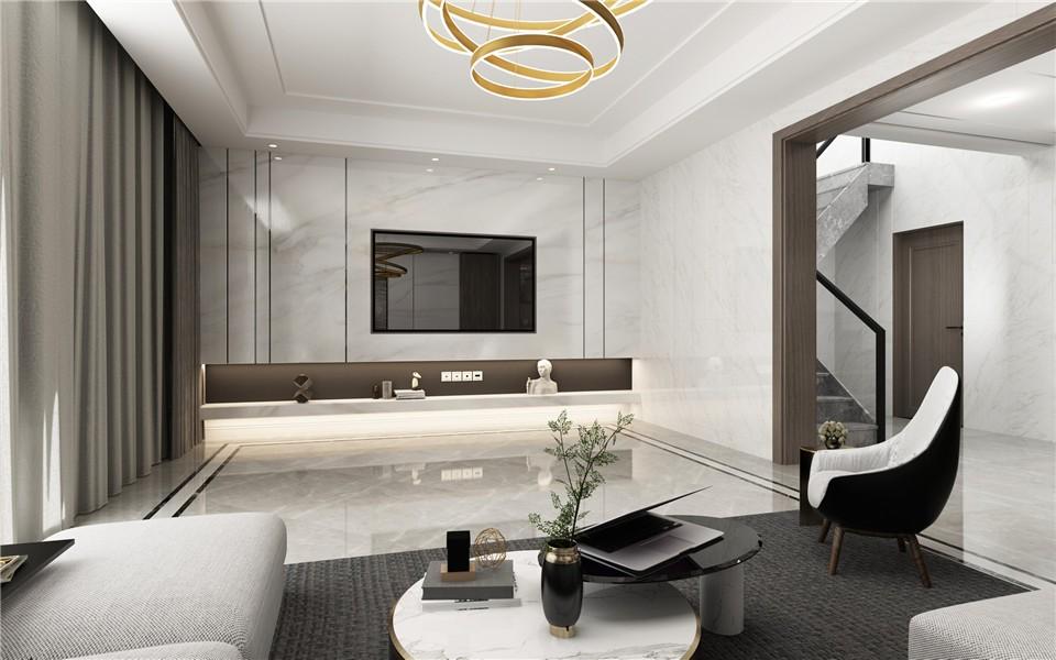 2020后現代客廳裝修設計 2020后現代電視柜裝修效果圖片