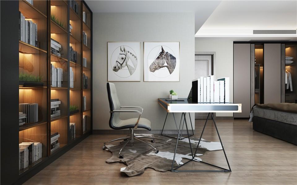 2020后現代書房裝修設計 2020后現代書桌圖片