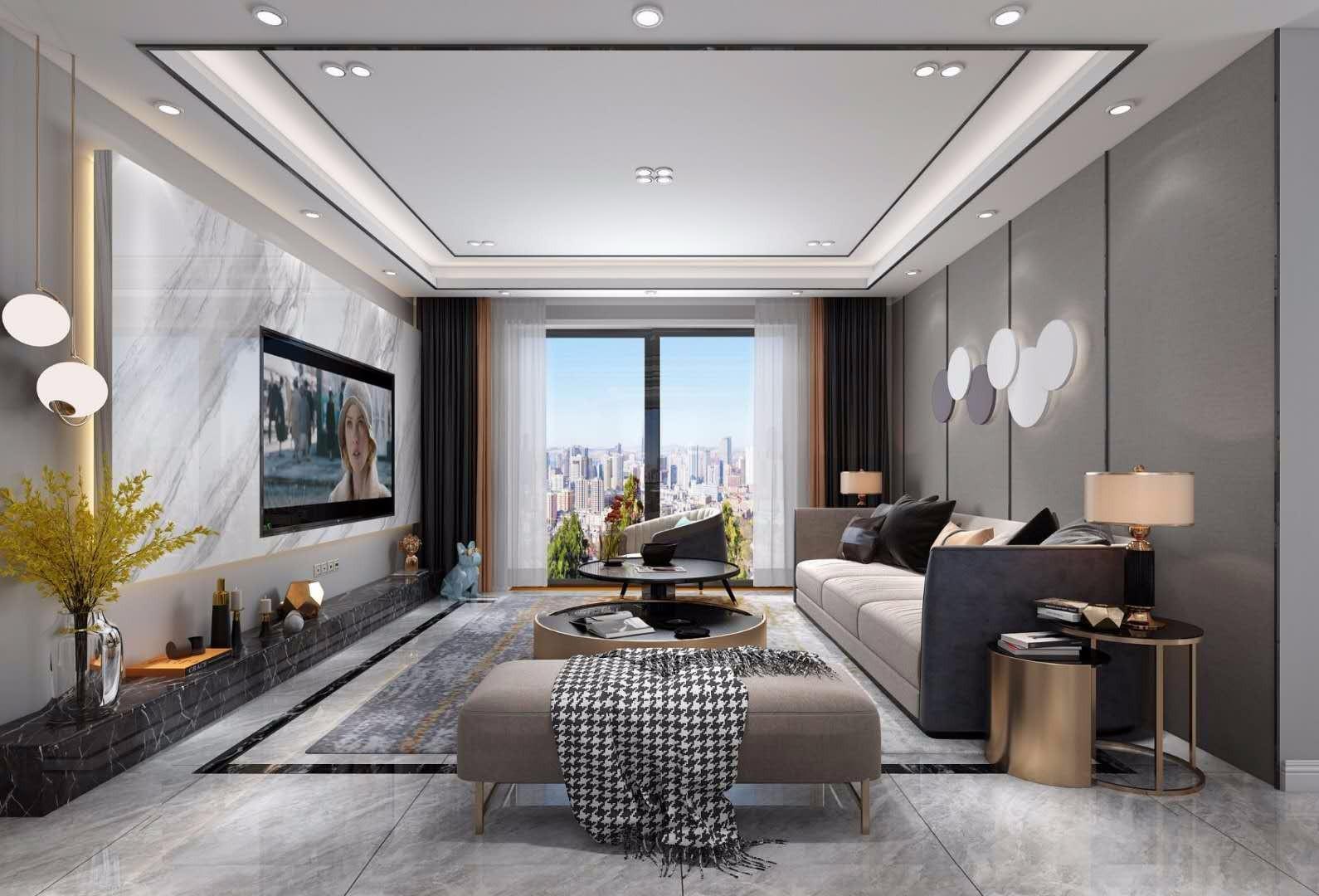 2020現代簡約150平米效果圖 2020現代簡約套房設計圖片