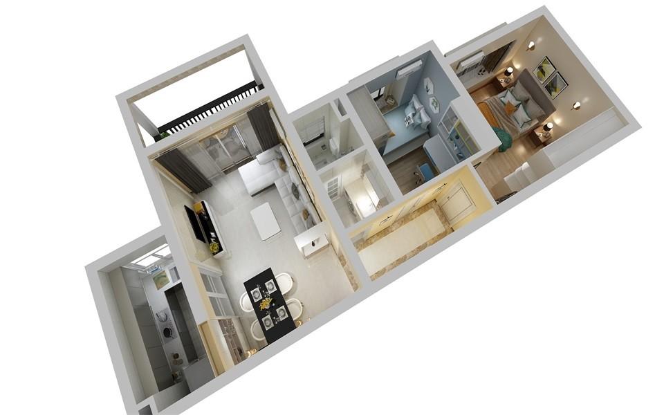 2021现代起居室装修设计 2021现代隔断装修设计图片