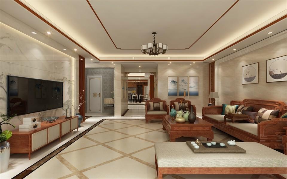 2020新中式150平米效果圖 2020新中式套房設計圖片