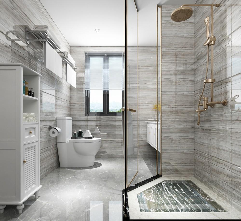 2020现代简约浴室设计图片 2020现代简约地板砖装饰设计