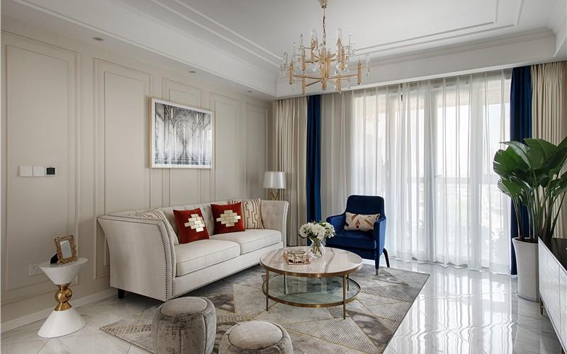美式風格137平米四室兩廳新房裝修效果圖