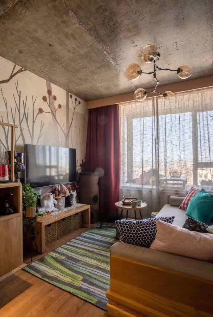 2020混搭客廳裝修設計 2020混搭電視柜裝修效果圖片