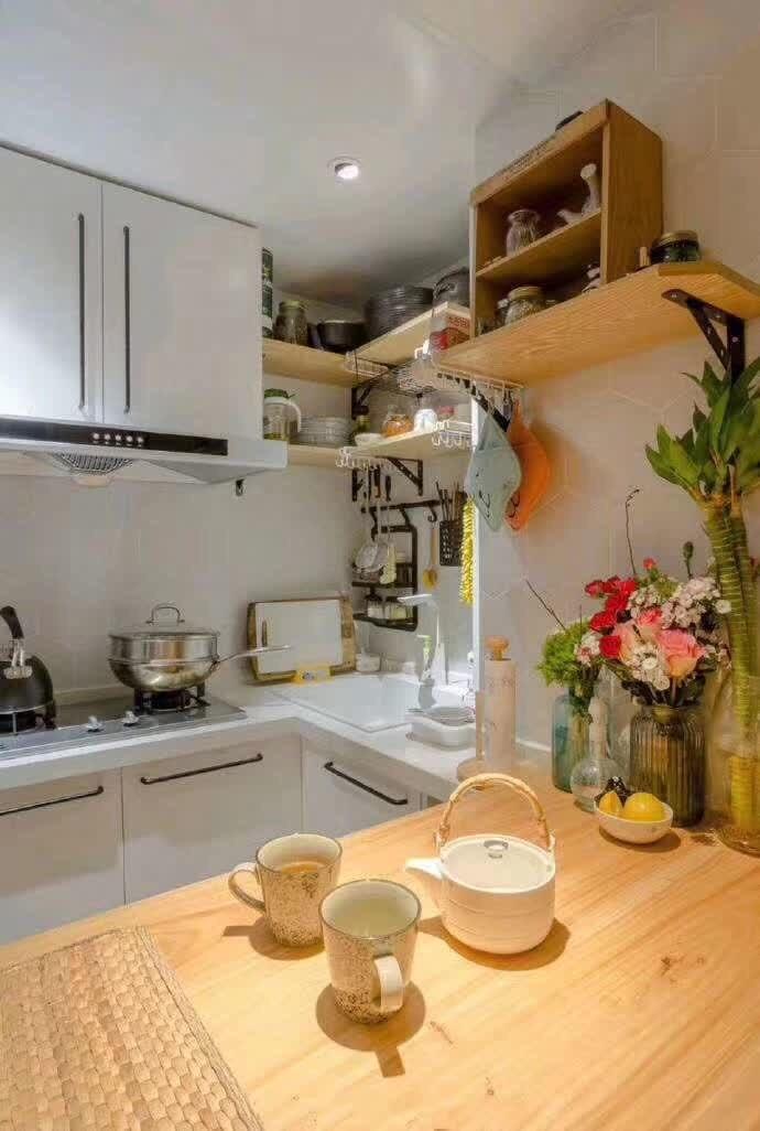 2020混搭廚房裝修圖 2020混搭櫥柜裝修效果圖片