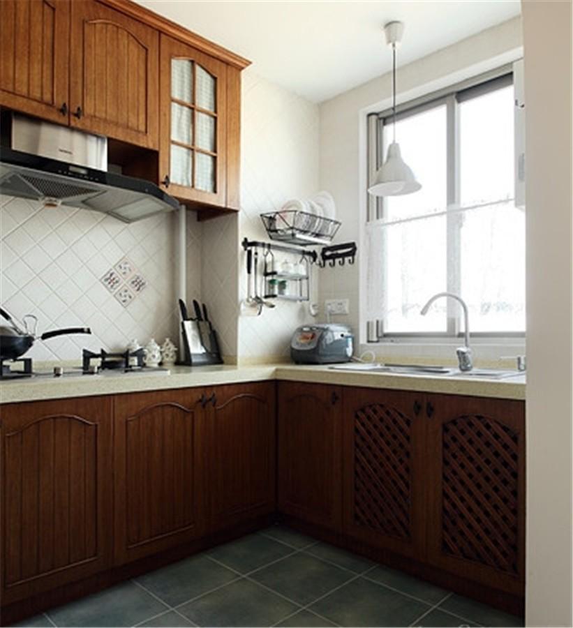 2020田園廚房裝修圖 2020田園櫥柜裝修效果圖片