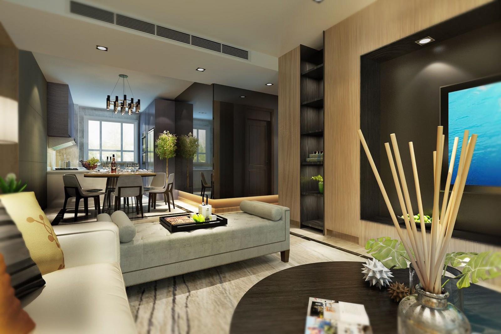 2020現代客廳裝修設計 2020現代電視柜裝修圖片