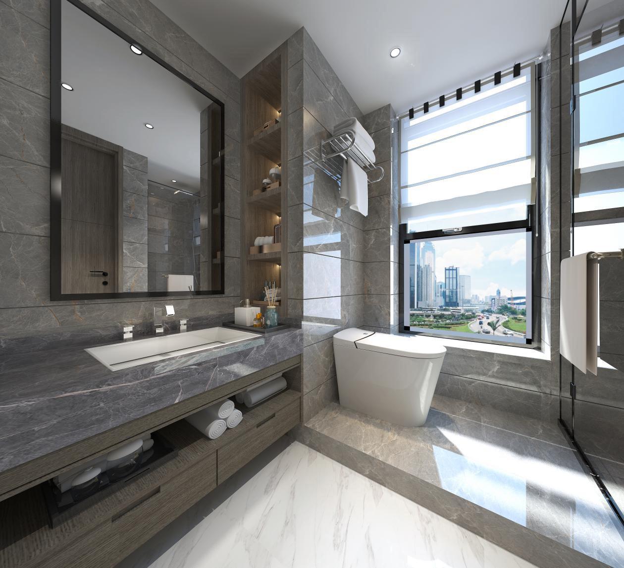 2020后现代卫生间装修图片 2020后现代浴室柜装修图