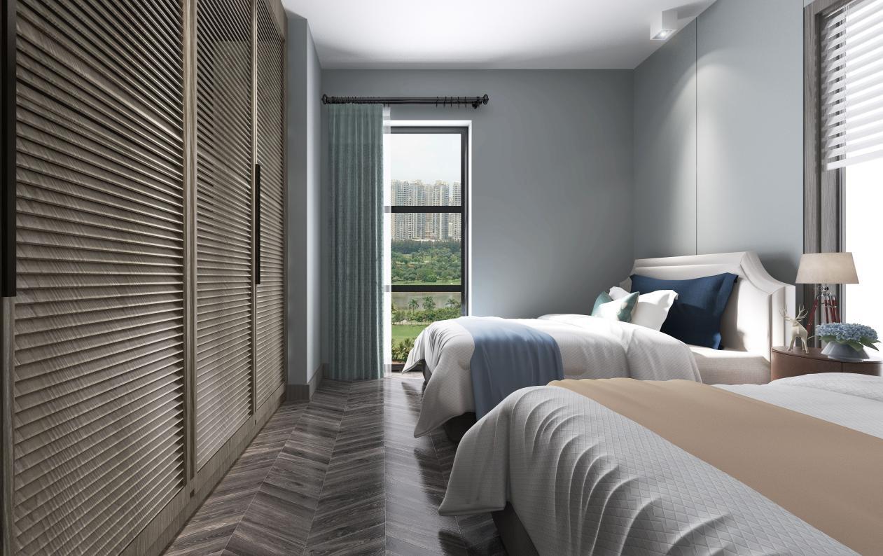 2020后现代卧室装修设计图片 2020后现代床装修效果图片