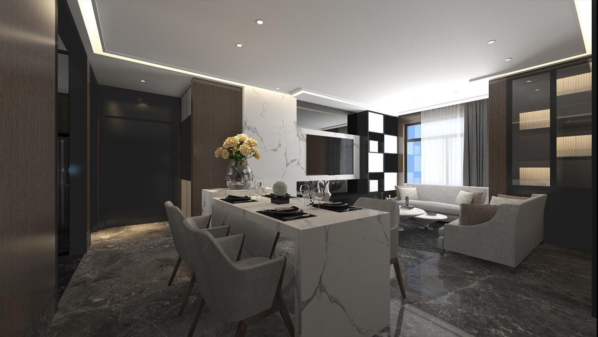2020后现代客厅装修设计 2020后现代餐桌装修效果图片