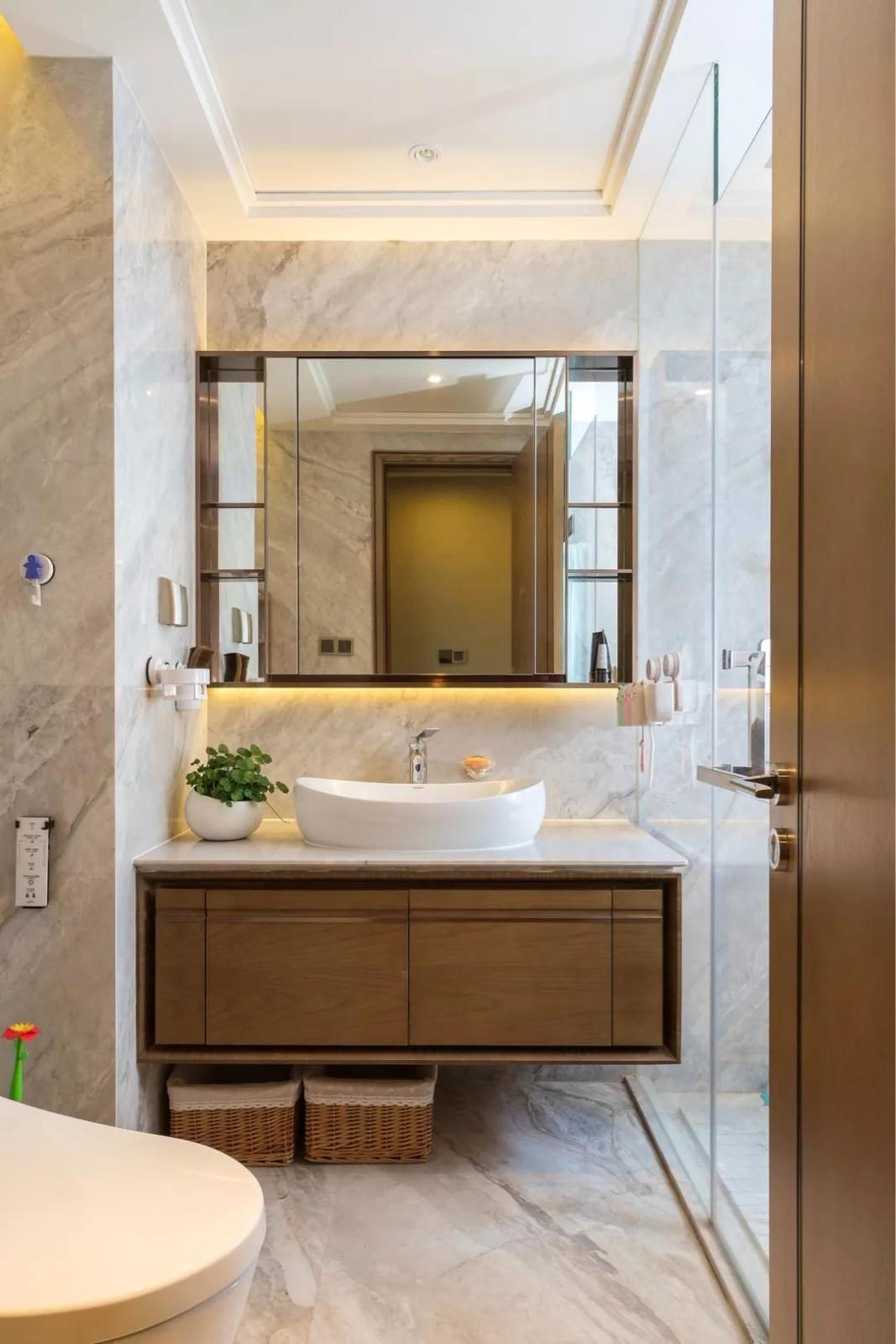 2020現代簡約衛生間裝修圖片 2020現代簡約洗漱臺裝飾設計