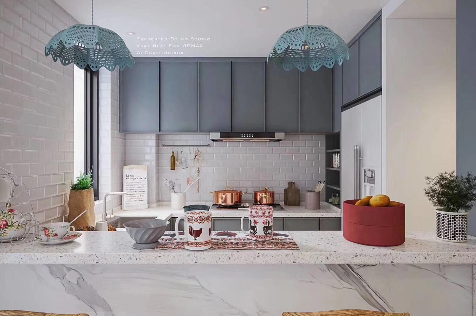 2020北歐廚房裝修圖 2020北歐吧臺裝修設計圖片