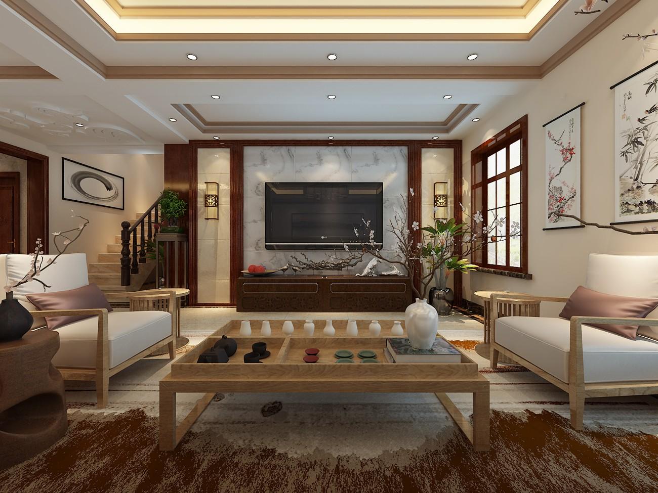 5室2卫3厅220平米新中式风格