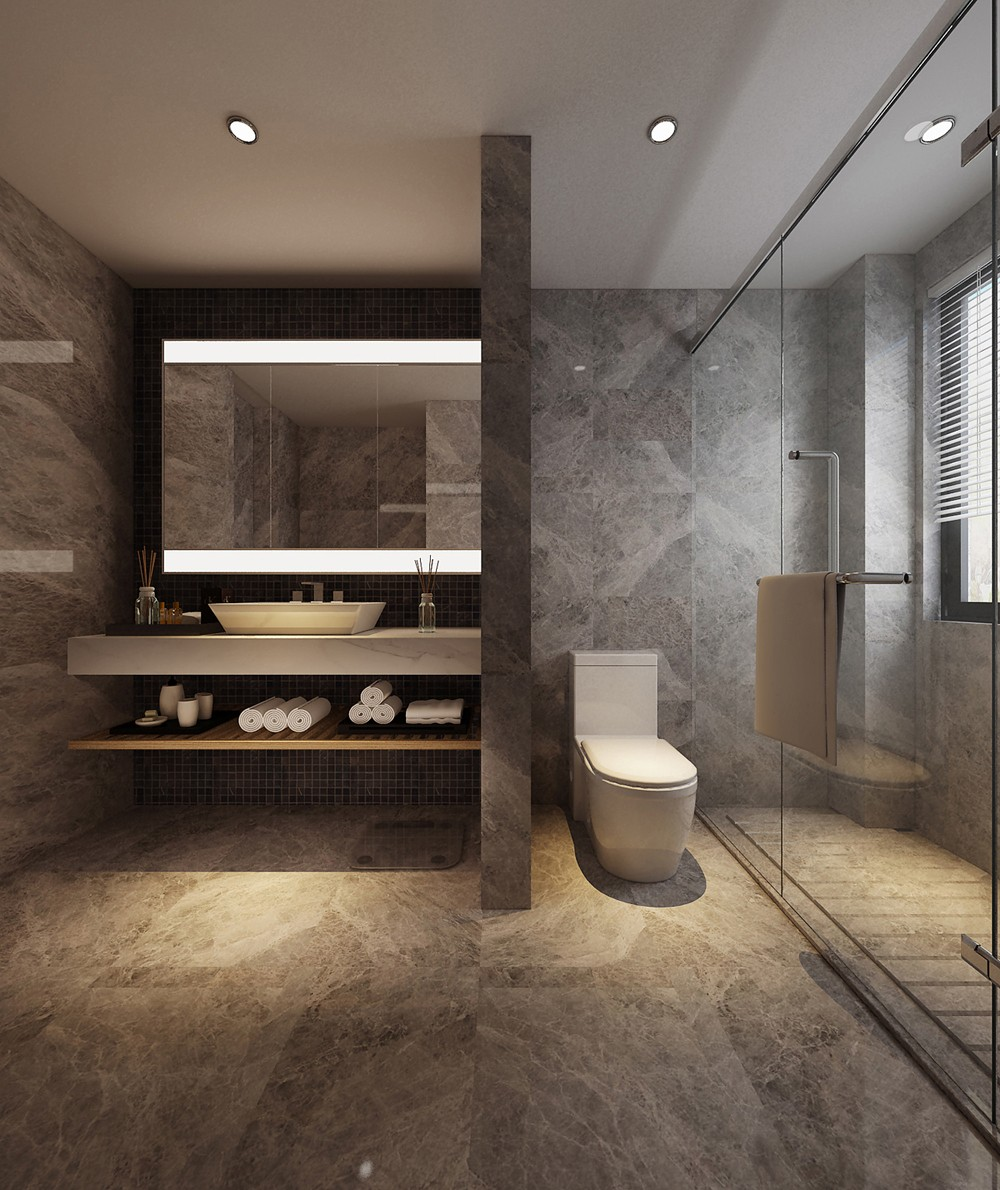 2020新中式衛生間裝修圖片 2020新中式浴室柜裝修圖片