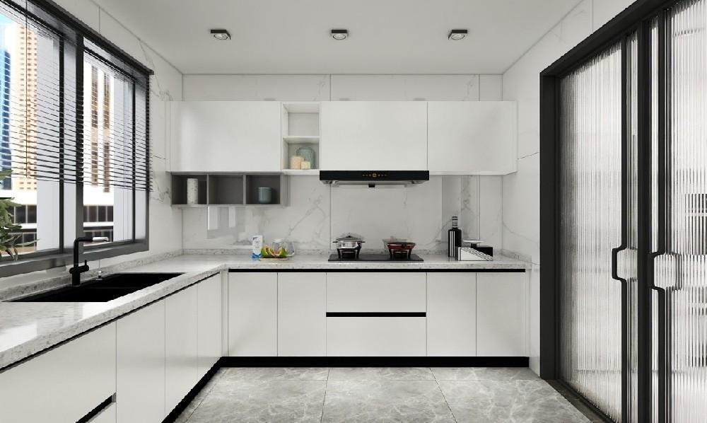 2020簡約廚房裝修圖 2020簡約櫥柜裝修效果圖片