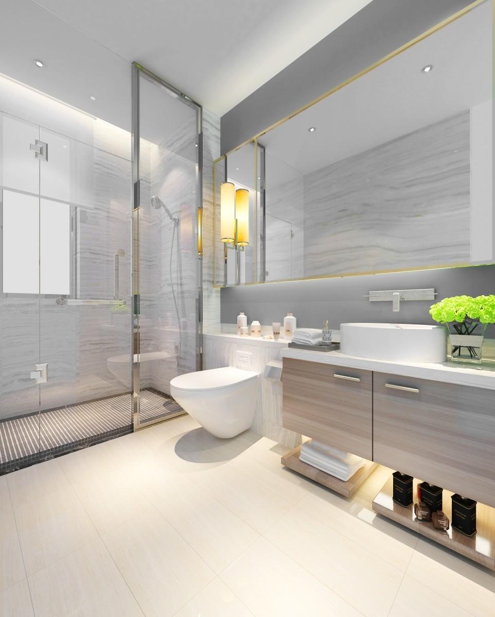 2020簡約衛生間裝修圖片 2020簡約隔斷裝飾設計