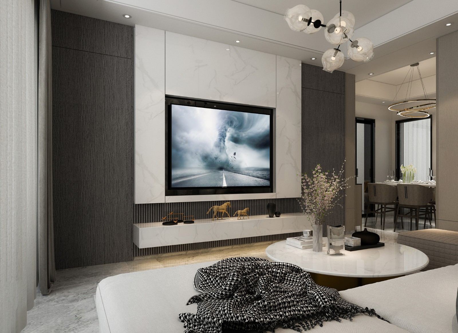 2020現代90平米裝飾設計 2020現代四居室裝修圖