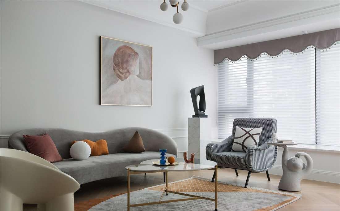 2020法式110平米裝修設計 2020法式三居室裝修設計圖片