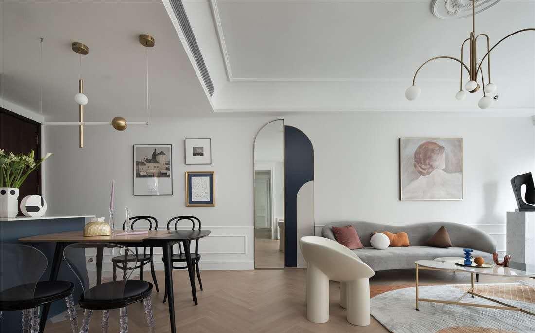 2020法式客厅装修设计 2020法式吊顶设计图片