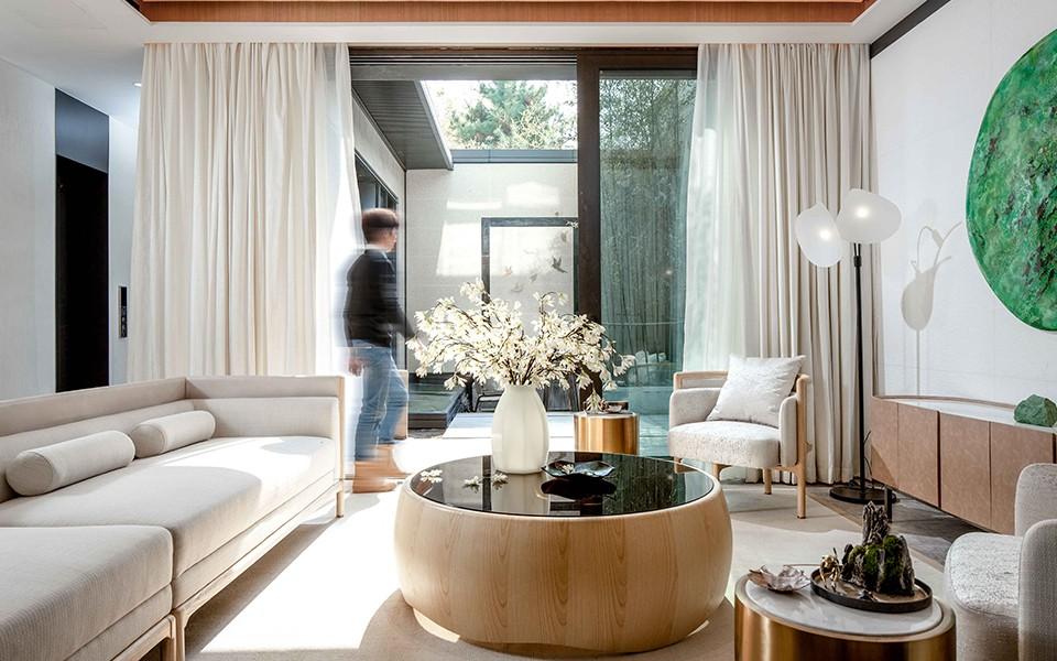2020中式客厅装修设计 2020中式窗帘装修效果图片