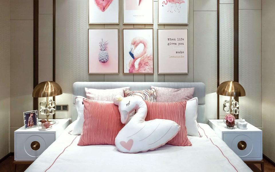 2020中式臥室裝修設計圖片 2020中式床圖片