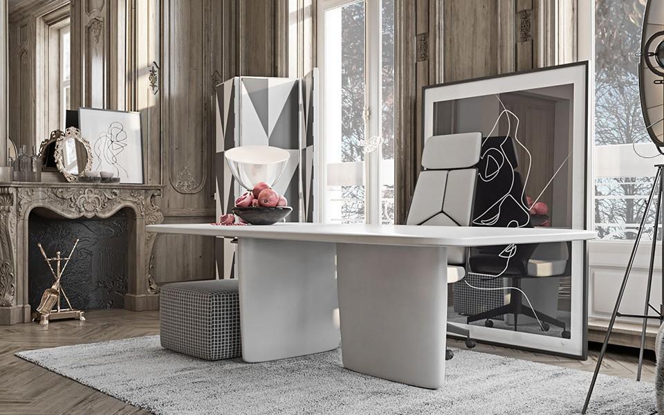 2020歐式書房裝修設計 2020歐式書桌圖片