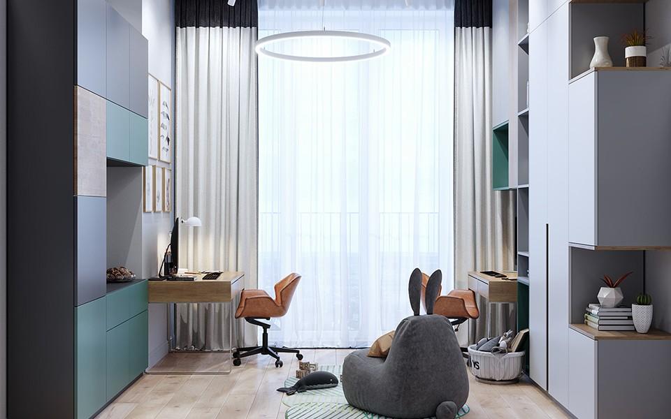 2020欧式书房装修设计 2020欧式背景墙装修效果图片