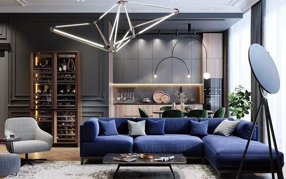 2020歐式客廳裝修設計 2020歐式背景墻圖片