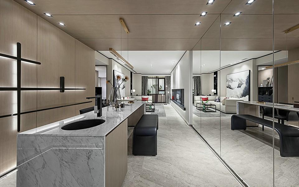 2020现代厨房装修图 2020现代吧台装修设计图片