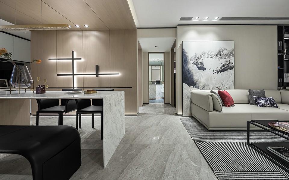 2020現代客廳裝修設計 2020現代過道圖片