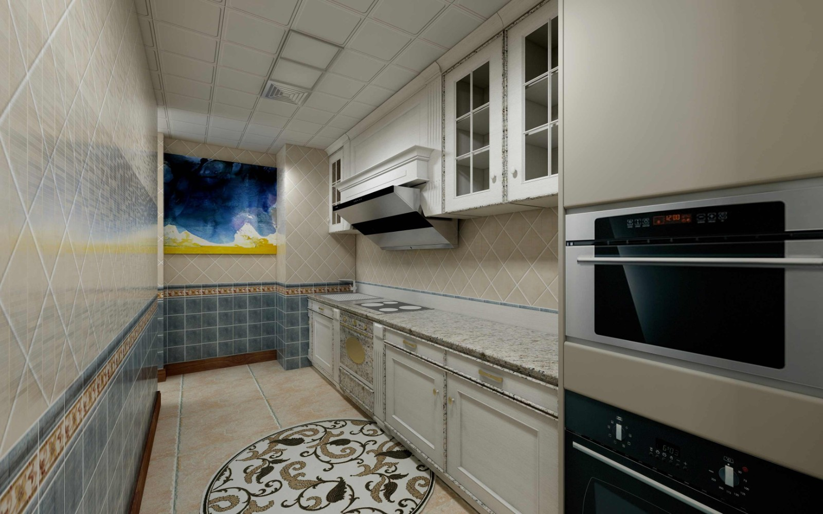 2021美式厨房装修图 2021美式厨房岛台装饰设计