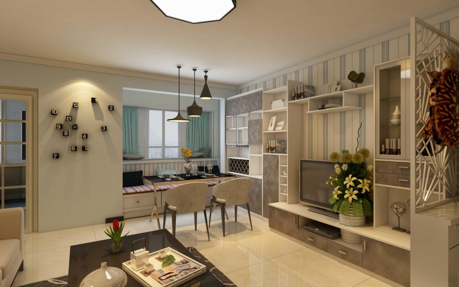 2室1卫1厅95平米现代简约风格