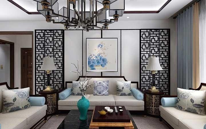 2020新中式110平米裝修設計 2020新中式二居室裝修設計