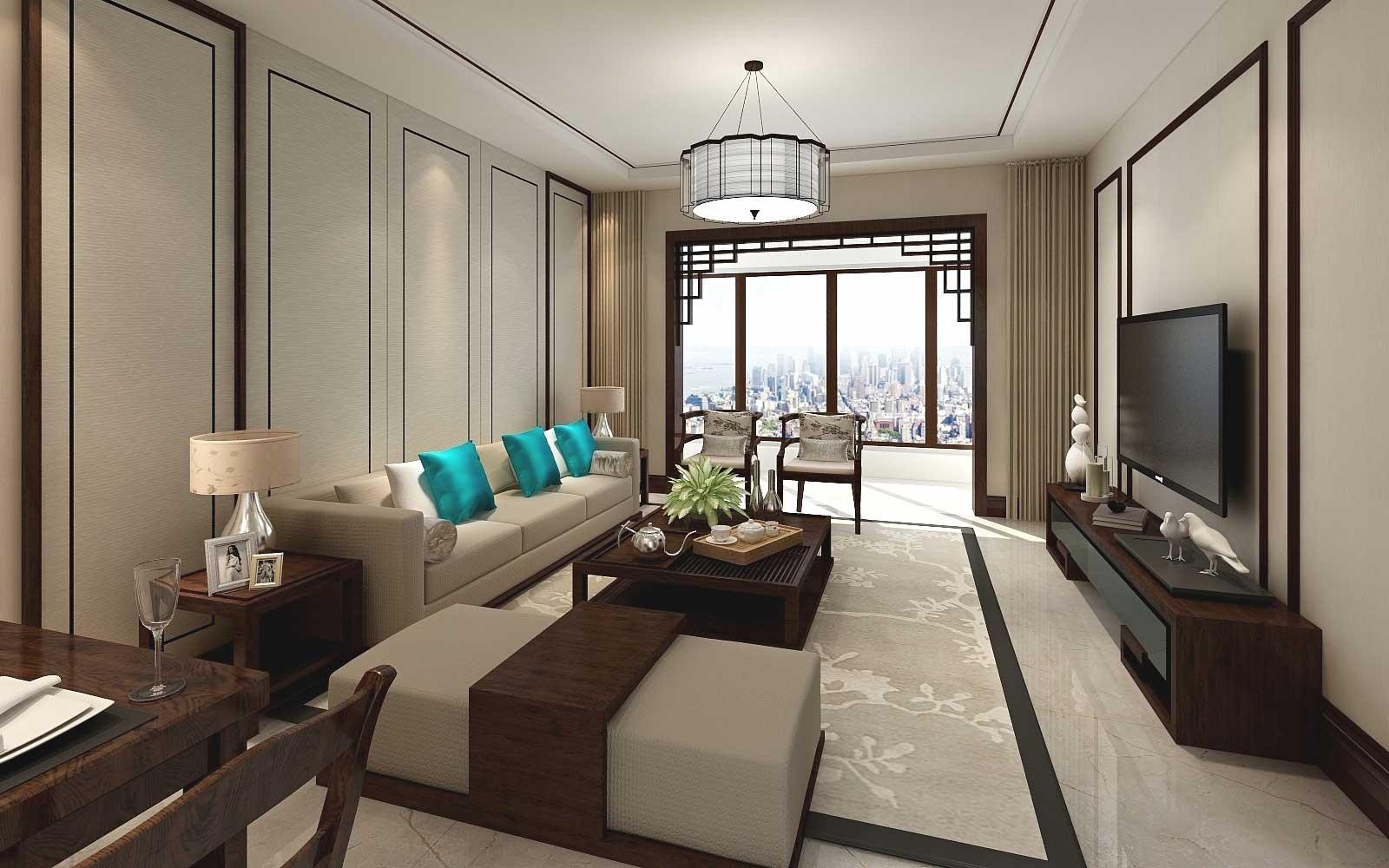 2020新中式70平米設計圖片 2020新中式二居室裝修設計