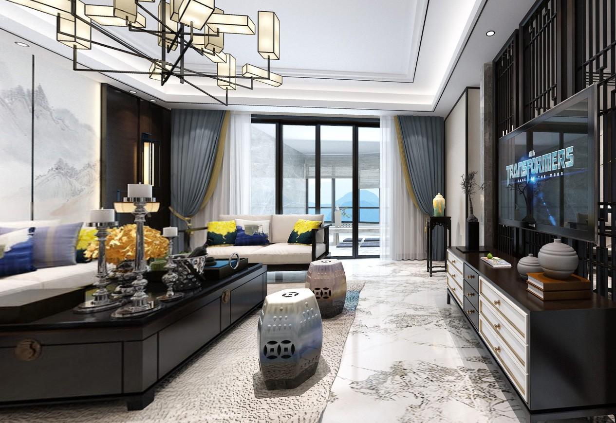 220平方新中式大平層裝修設計