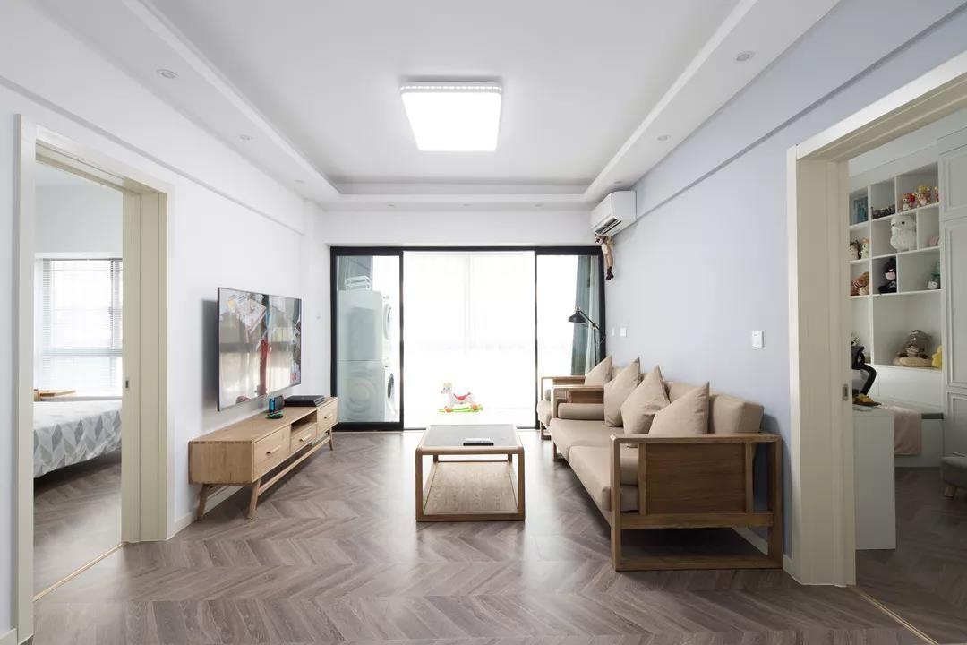 2021简约客厅装修设计 2021简约推拉门装修设计图片