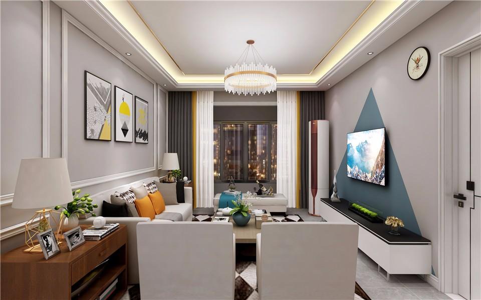 2020現代簡約客廳裝修設計 2020現代簡約燈具圖片