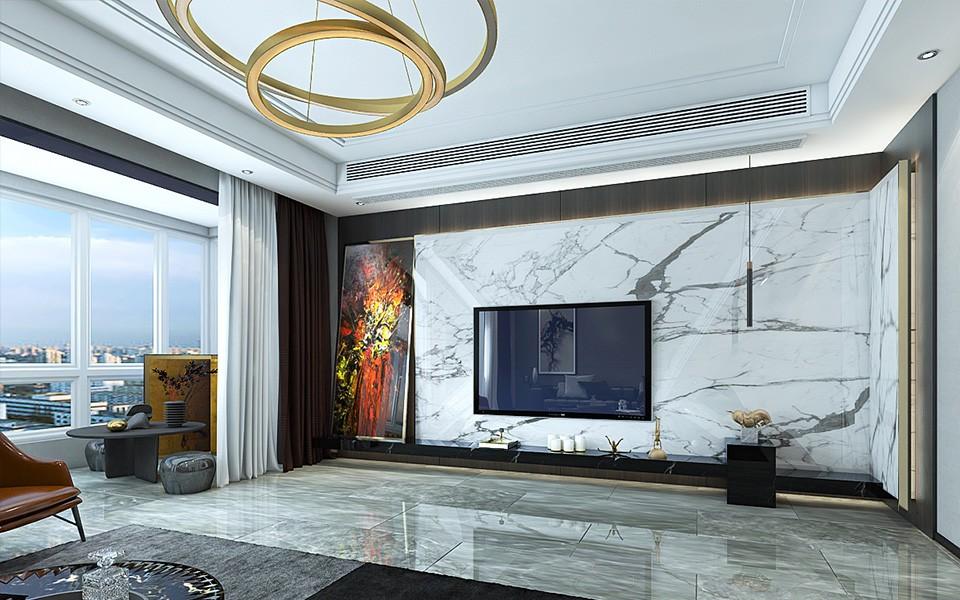 2020后现代客厅装修设计 2020后现代地板效果图